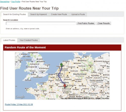 Caches a long a route – Howto