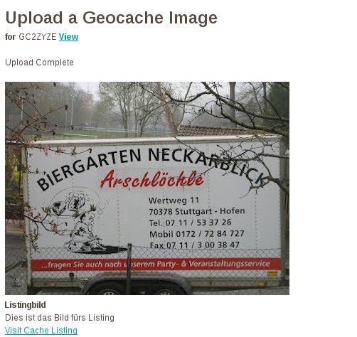 Geohobbythek – Ein Bild mittels HTML ins Listing einbauen