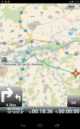 Karten Übersicht mit MapFactor