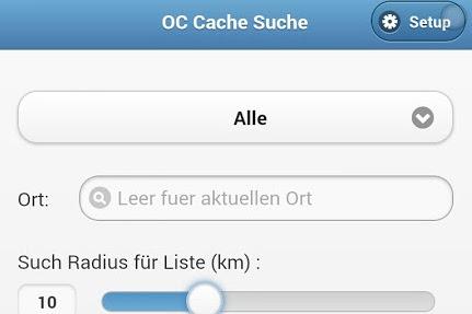 Opencaching Mobile Cache Suche Artikelbild