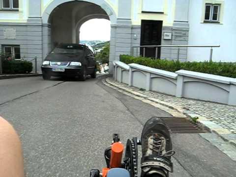 Universal Halterung für GPSr/Handy am Liegerad getestet
