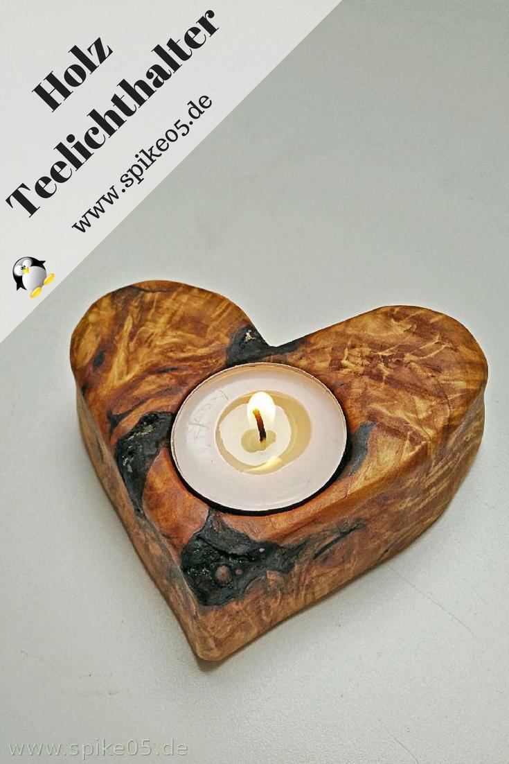 diy herz f r teelichter aus holz spike05de. Black Bedroom Furniture Sets. Home Design Ideas