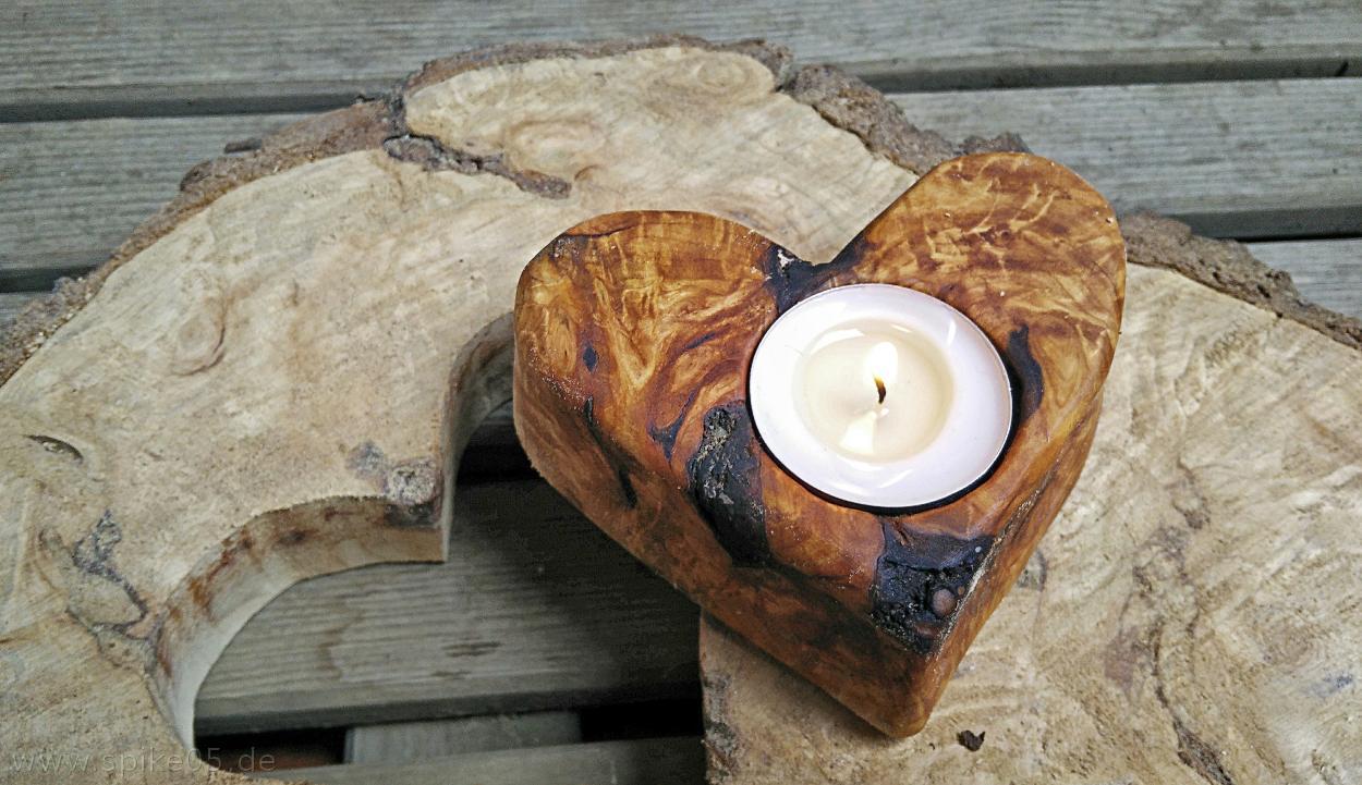 DIY Herz für Teelichter aus Holz