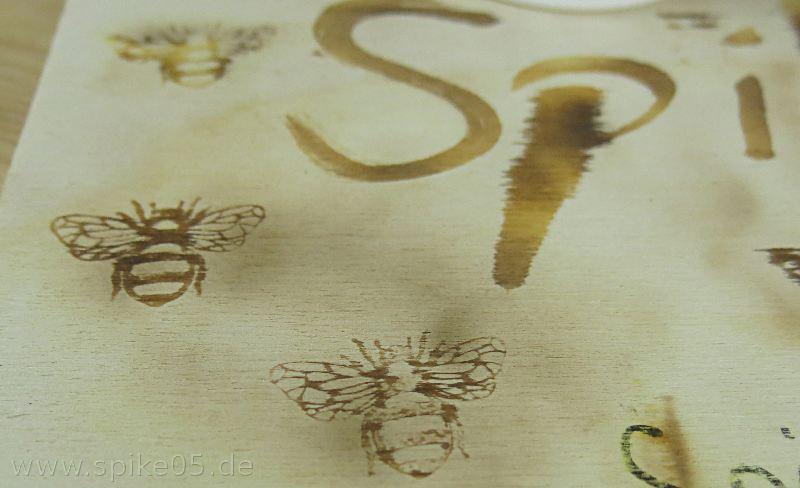 Biene Brandzeichen ohne Brennstempel