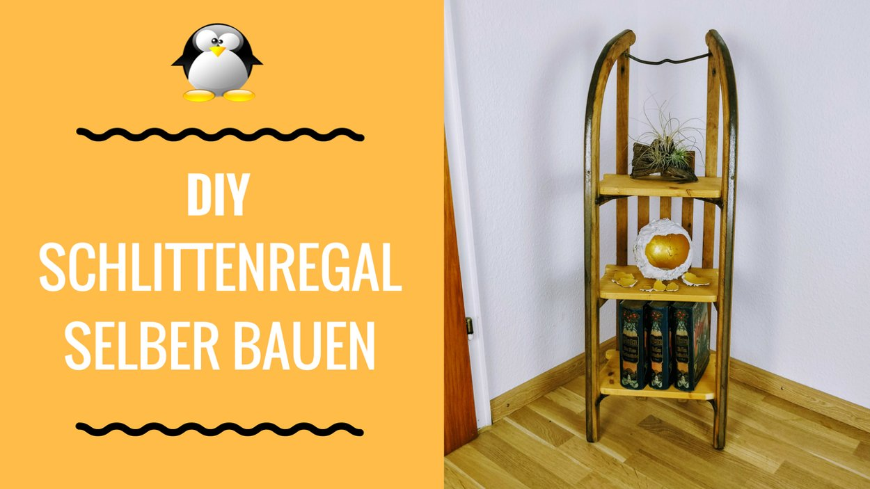 Artikelbild DIY Schlittenregal Upcycling