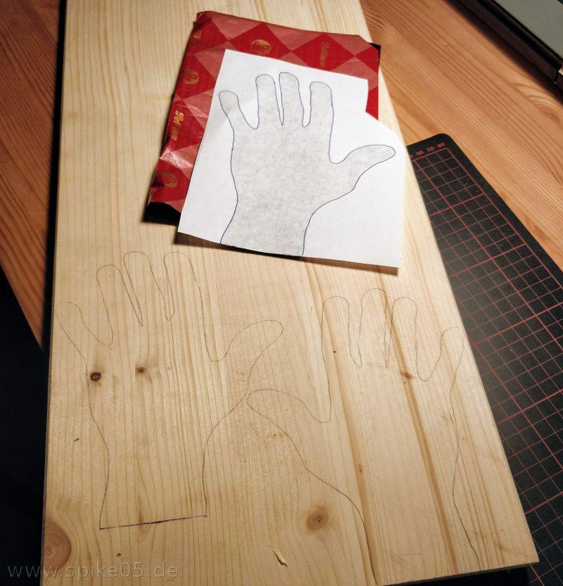 Blaupapier Holz