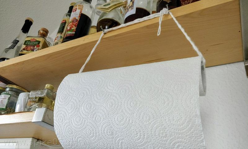Küchenrollenhalter aus Holz selber machen » Spike05de