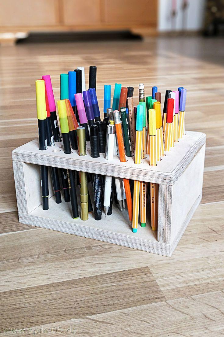 Stiftehalter Holz DIY