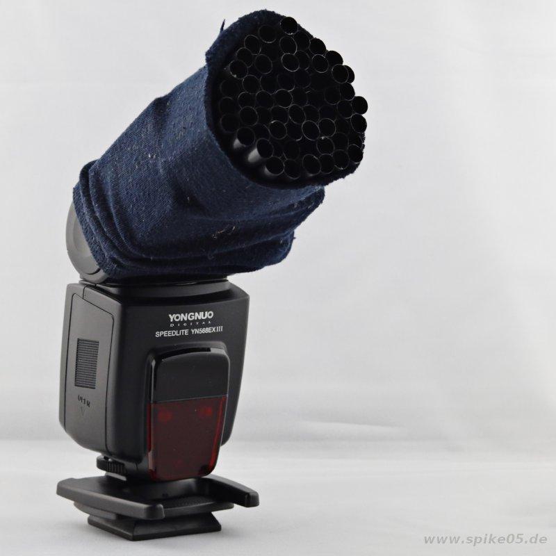 DIY Wabenvorsatz Socke Trinkhalme