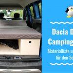 Dacia Dokker DIY Campingbox – Materialliste für den Eigenbau