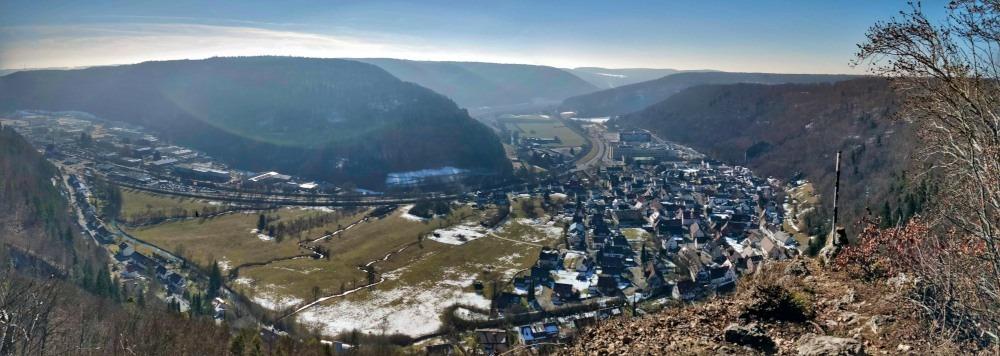 Ausblick Ruine Günzelburg Blaubeuren