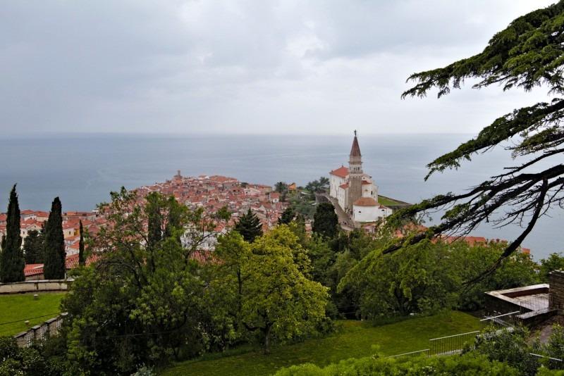 Piran von der Stadtmauer aus gesehen