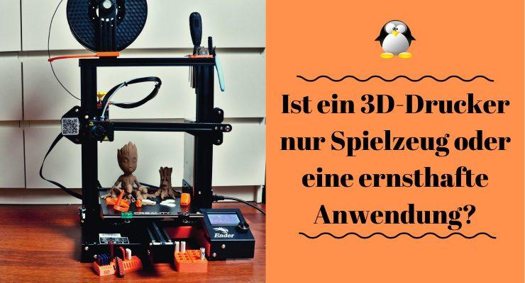 Artikelbild 3D-Drucker Creality Ender 3 Pro - Spielzeug oder ernsthafte Anwendung?
