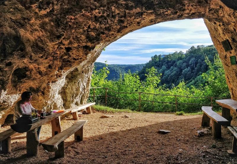 Auszeit in der Gutenberger Höhle