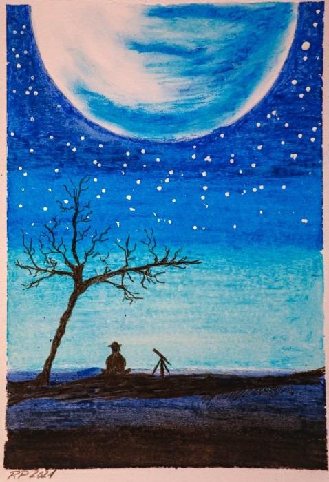 Bild Ramona Baum Mond