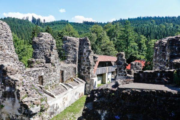 Alt-Trauchburg Burgmauern Allgäu