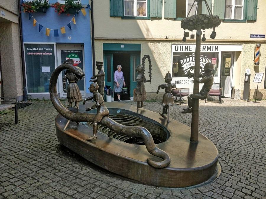 Kinderbrunnen Leutkirch Allgäu